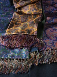Silk and Wool Printed Paisley Scarves