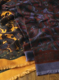 Silk & Wool Challis Scarves