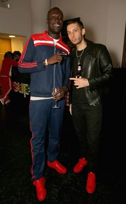 Event Magazine capture Stormzy and Example  at the Adidas Supercolor launch event in Hackney.
