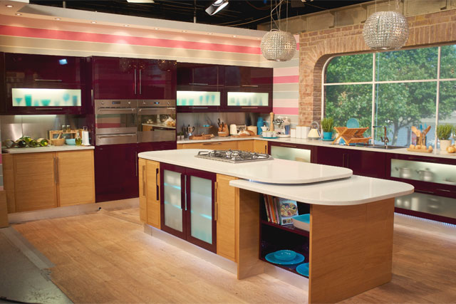 b&q kitchens stainless steel sink commercial kitchen b q cooks up two year deal to provide this morning installed for itv s studio