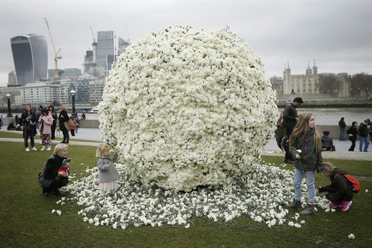 Charity Maternity Action uses 54,000 flowers to highlight discrimination