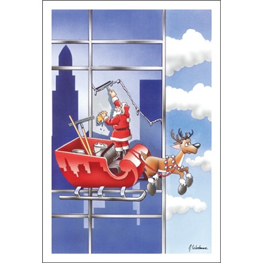 Santa Is An Excellent Window Washer Paul Oxman Publishing