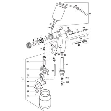 devilbiss spray gun parts diagram how to wire a garage tp tools proline hvlp turbine breakdown