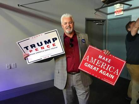 Chair Boyd Pugmire at the Trump/Pence Rally in Salt Lake City