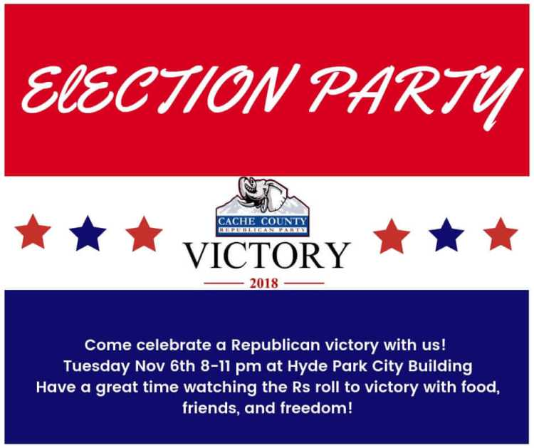 2018 Cache GOP Election Night Party