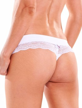 Black & White Series| White Lace Thong Panty