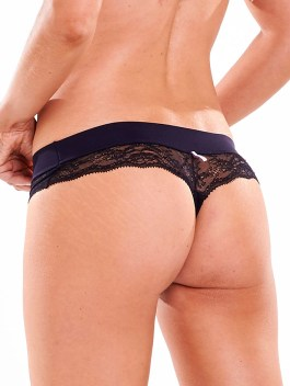 Black & White Series| Black Lace Thong Panty