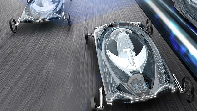 Llega el prototipo chino de auto fantástico: Circulará solo y por vías como un 'tren bala'