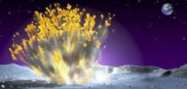 Choque de meteorito causa destello en la Luna