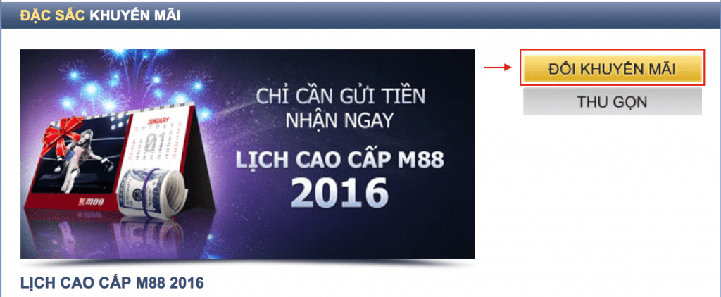 M88 2016 TANG LICH
