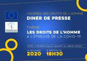 Diner de presse avec l'UE dans le cadre de la journée internationale des droits de l'Homme