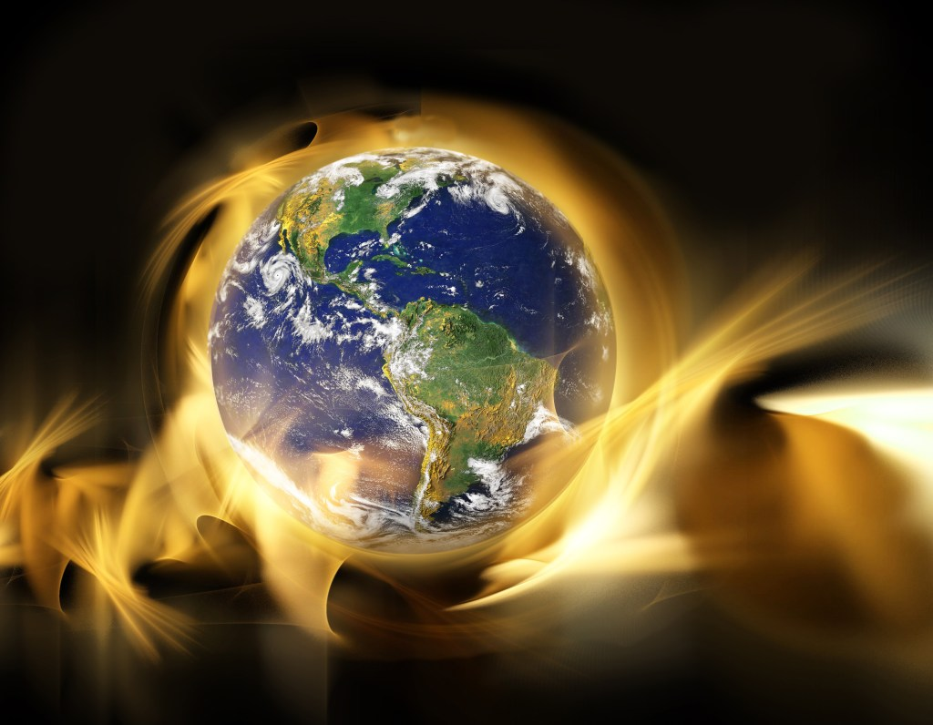 Globe in Fire, map from map from earthobservatory/nasa