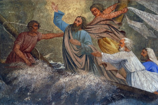 Jesus Calms a Storm on the Sea, painting