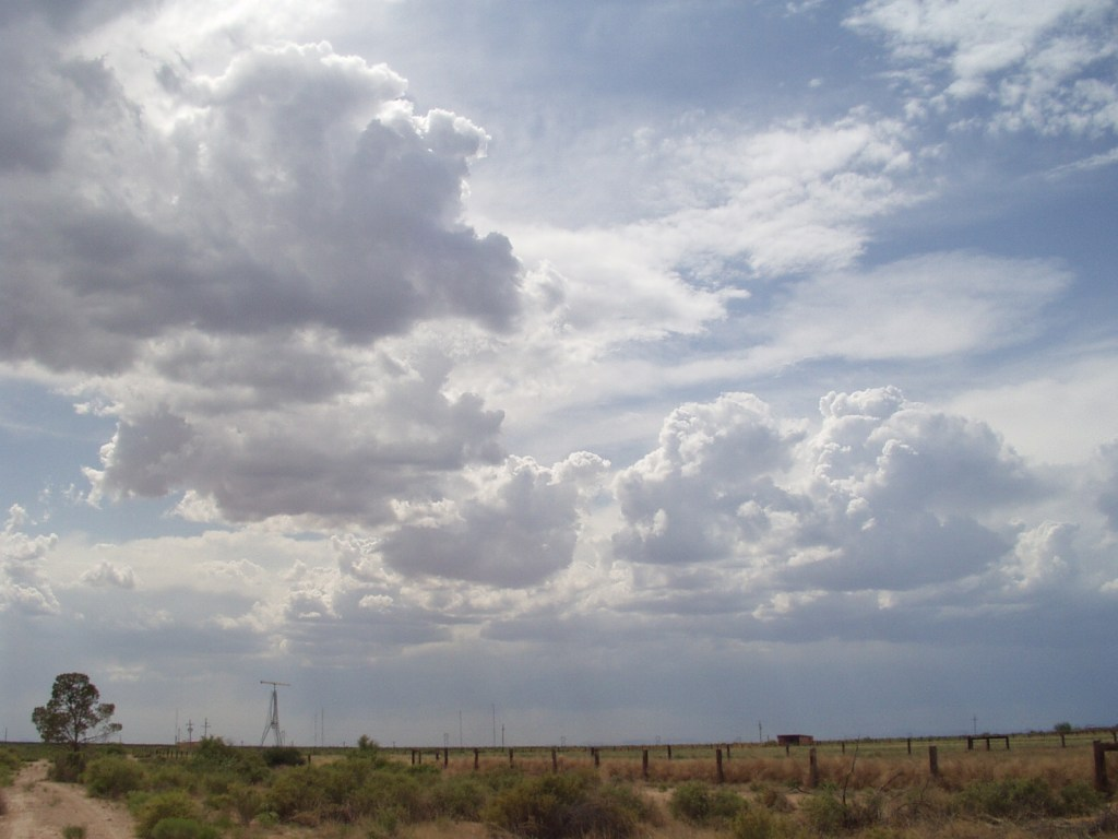 clouds in a desert sky