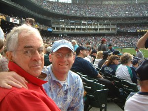 Bill Hogarty at baseball game