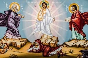 Jesus at the transfiguration icon