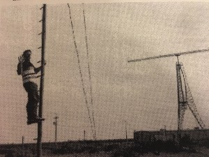 Mike Halloran near power lines