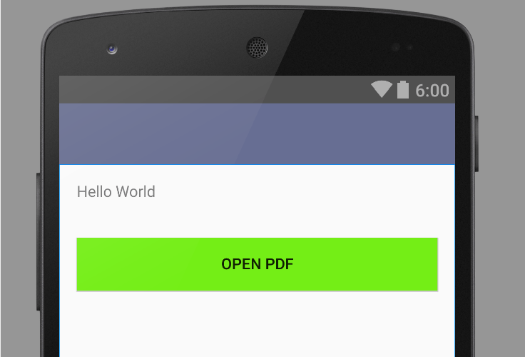 Open pdf file programmatically in android output