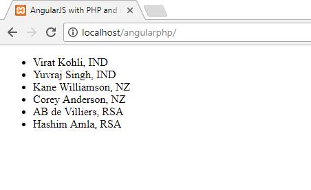 AngularJS Get JSON Data From MYSQL Database Using PHP PDO