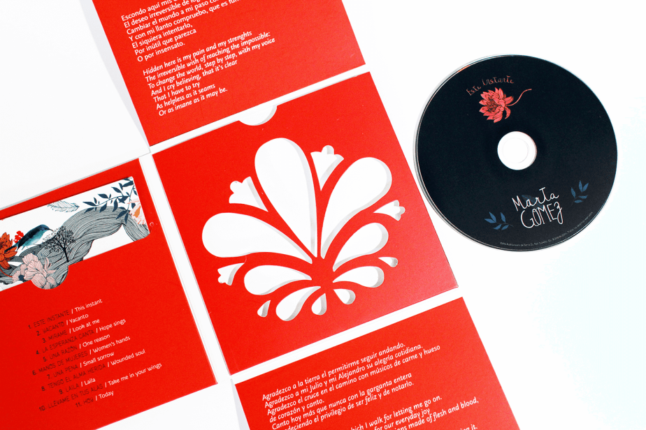 Empaque del disco Este Instante de la cantante colombiana Marta Gómez