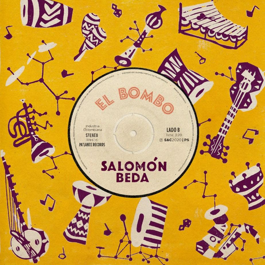 Portada del sencillo El bombo de Salomón Beda