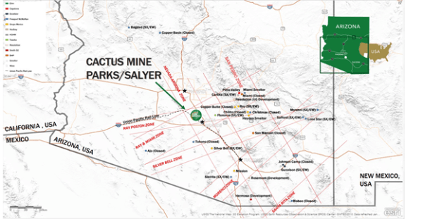The Cactus Mine and Parks/Salyer mining map