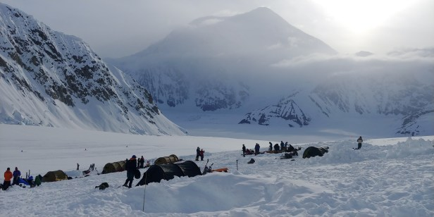 Mt. Foraker from Kahiltna Base Camp