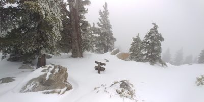 Wellman Divide in the Snow