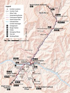 Grand Canyon Corridor Trails Map