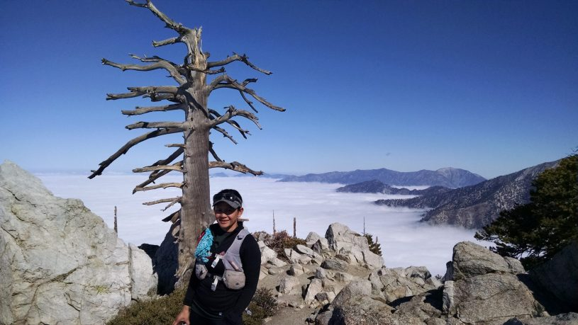 Kam on Baldy Traverse