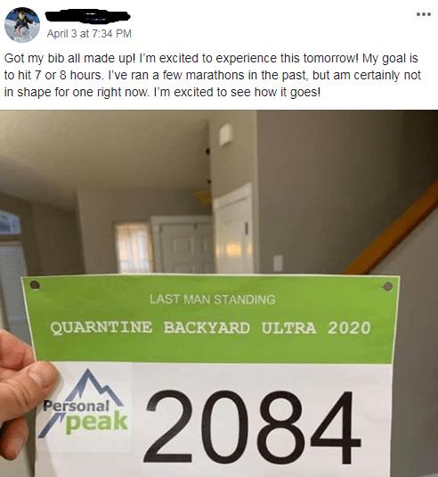 Quarantine Backyard bib Posting