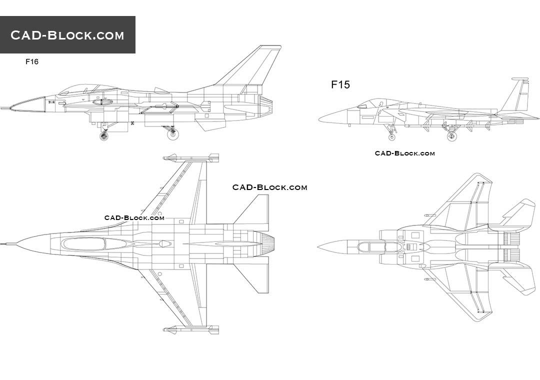 F 15 Drawing