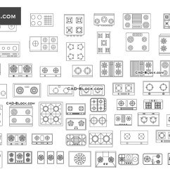 induction cooktops electric gas and others cad blocks  [ 1080 x 760 Pixel ]