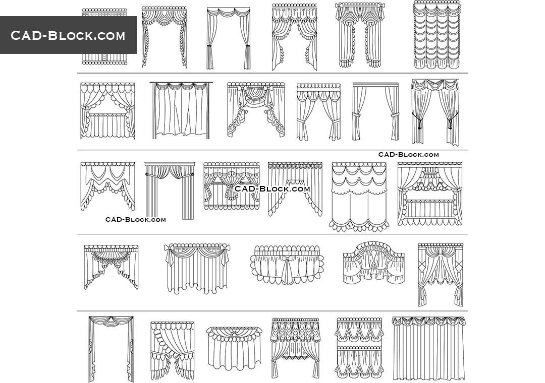 Curtains CAD Blocks free download