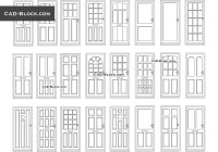 Doors elevation DWG, CAD Blocks download