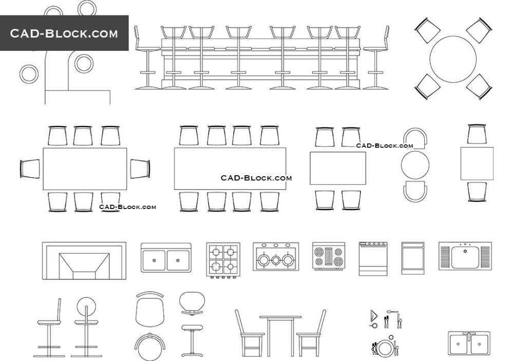 medium resolution of bar furniture cad blocks autocad file