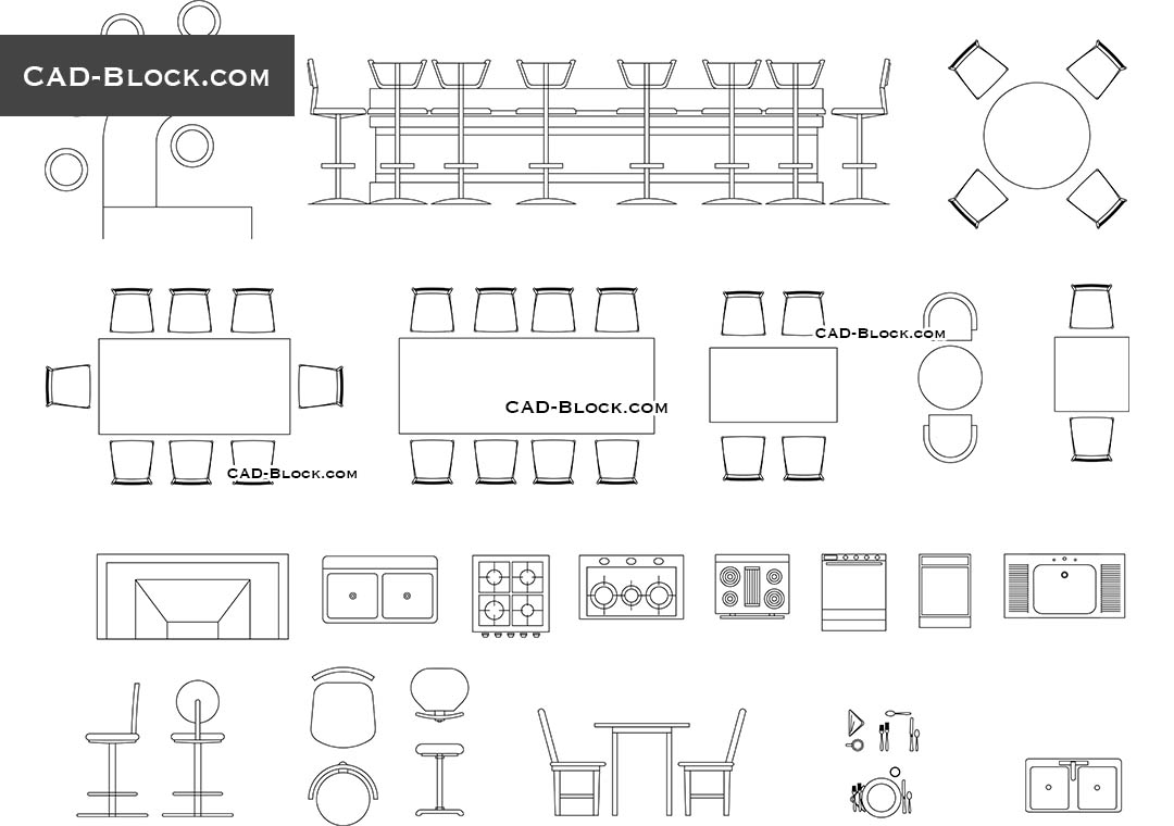 hight resolution of bar furniture cad blocks autocad file