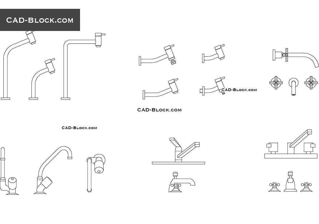 hight resolution of taps cad blocks autocad file