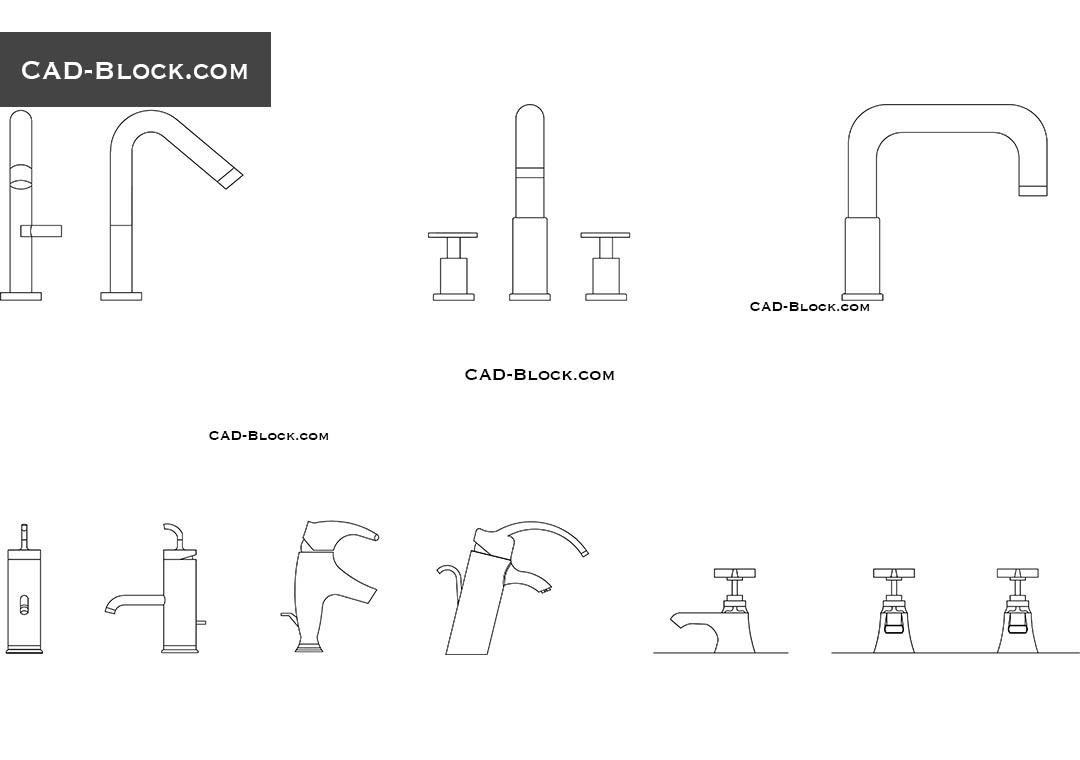 Bathroom Taps CAD Block