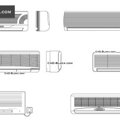 air conditioners cad blocks autocad file [ 1080 x 760 Pixel ]
