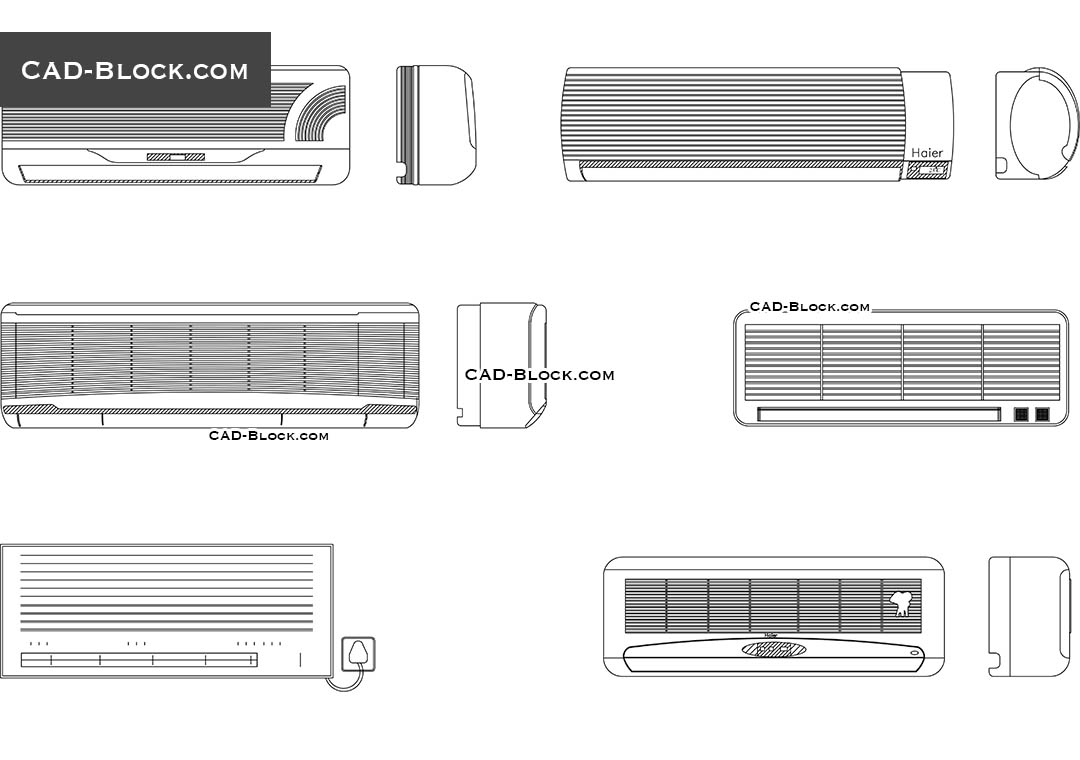hight resolution of air conditioners cad blocks autocad file