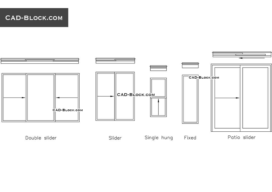 Door Blocks & Doors Elevation