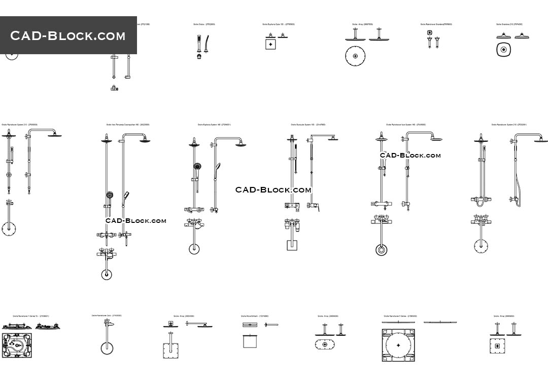 hight resolution of bathroom showers cad blocks autocad file