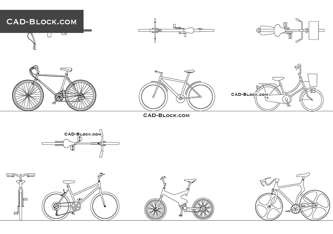 hight resolution of bikes download free cad block