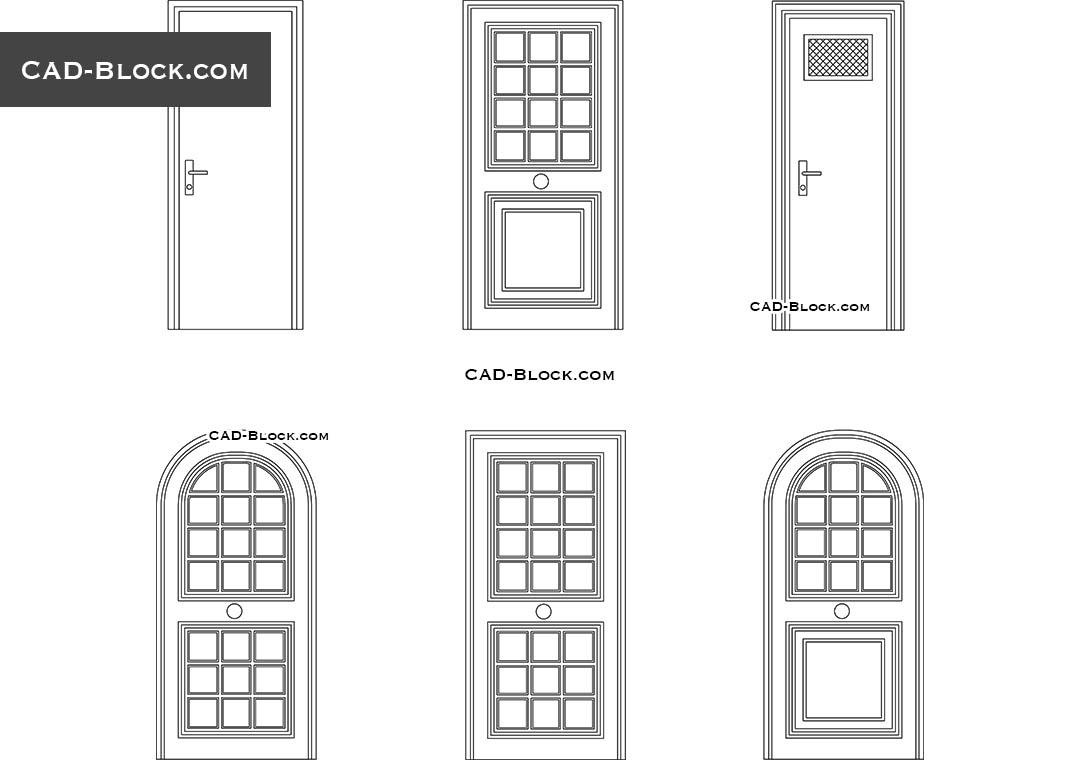 wooden doors cad blocks