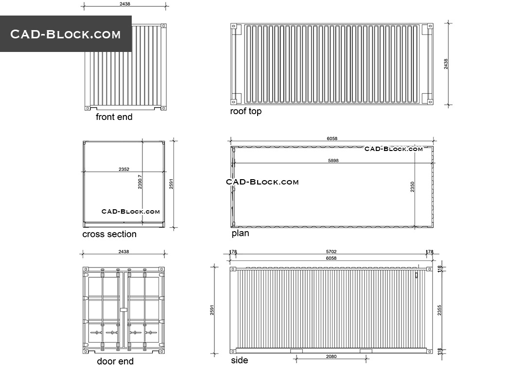 Best Kitchen Gallery: Shipping Container Cad Blocks Autocad Drawings of Intermodal Container Drawings on rachelxblog.com