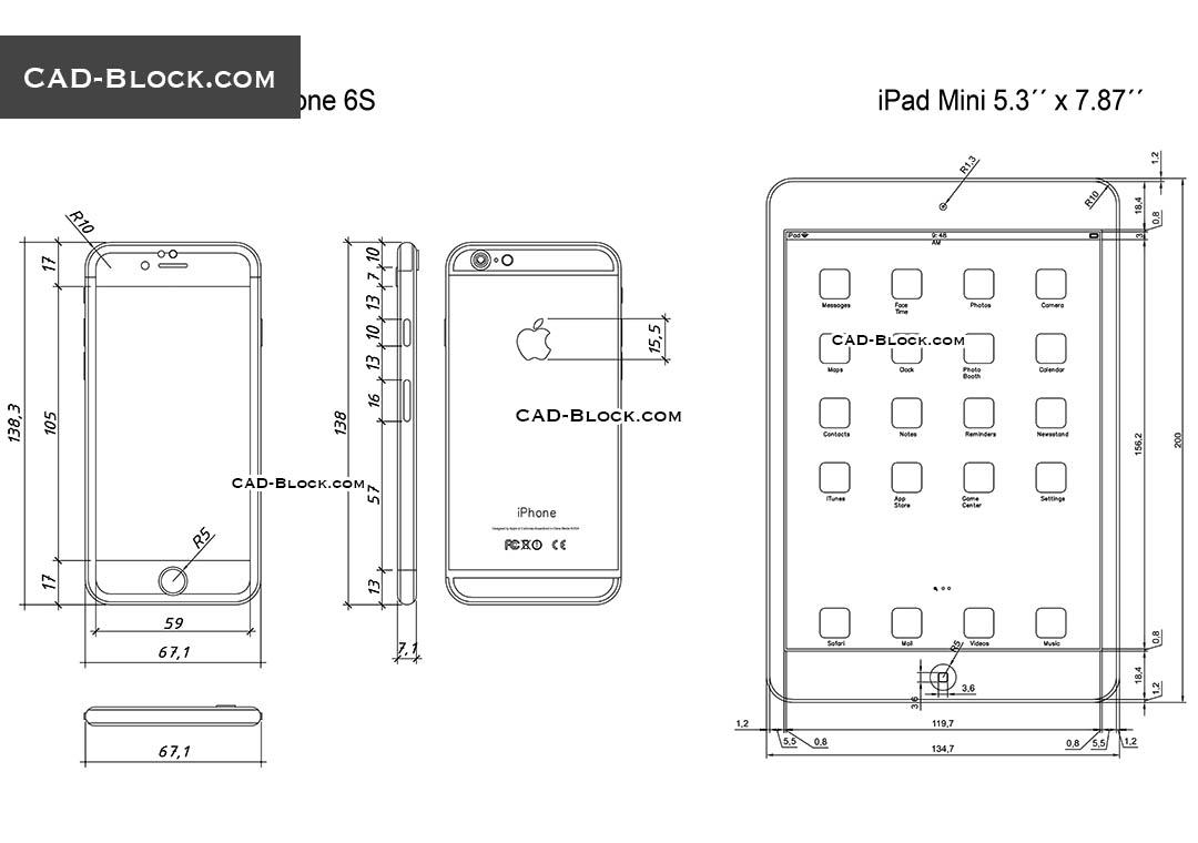 hight resolution of ipad mini and iphone 6s cad blocks autocad file