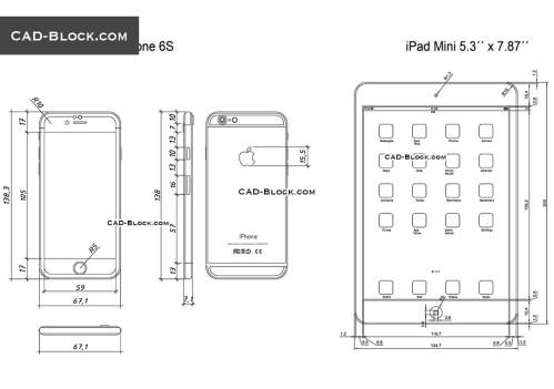 small resolution of ipad mini and iphone 6s cad blocks autocad file