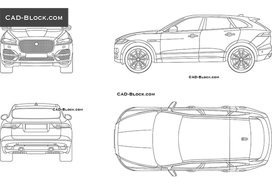 Range Rover Velar CAD blocks, AutoCAD drawings download