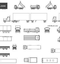 trucks set cad blocks autocad file [ 1080 x 760 Pixel ]